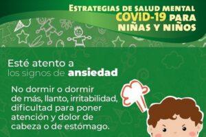 #SSA emite recomendaciones para cuidar la salud mental de niñas y niños